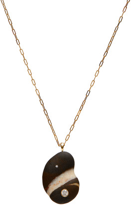 """Cvc Stones 18k Gold Crescent Dia Necklace - One of a Kind, 30"""""""