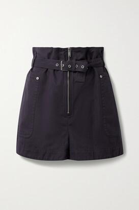 Isabel Marant Etoile - Parana Cotton And Linen-blend Belted Shorts - Blue