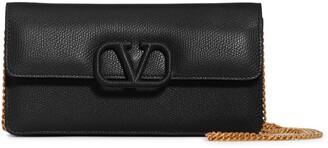 Valentino Garavani VSling Calfskin Wallet on a Chain