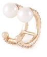 Paige Novick 2 Row Diamond Pave Ear Cuff with Two Pearl Details