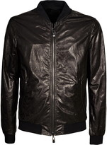 Drome Reversible Leather Bomber