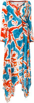 Peter Pilotto batik print wrap midi dress
