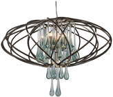 Varaluz Area 51 5-Light Pendant, New Bronze and Clear