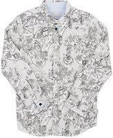Paul Smith NYC Cartoon-Print Cotton Shirt