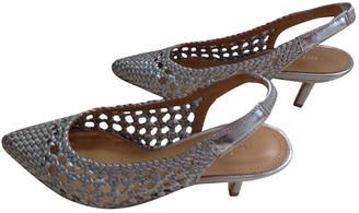 Minelli Metallic Leather Sandals