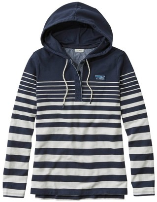 L.L. Bean Women's Soft Cotton Rugby, Hoodie Pullover Stripe
