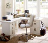 Pottery Barn Bedford Corner Desk, Antique White