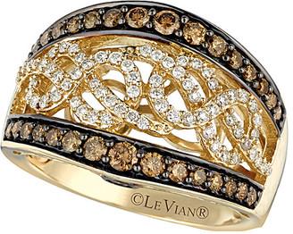 LeVian Le Vian 14K 0.94 Ct. Tw. White & Brown Diamond Ring