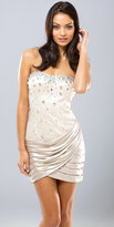 Mignon Beaded Silver Cocktail Dresses