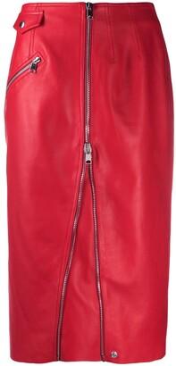Alexander McQueen High-Waisted Zip-Up Skirt