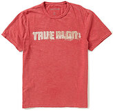 True Religion Football Vintage Graphic Crewneck Short-Sleeve Tee