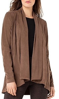 Liverpool Los Angeles Faux-Suede Draped Cardigan