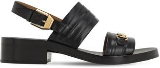 Gucci 30mm Leather Sandals W/horse Bit