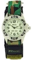 Ravel Nite-Glo Quartz Luminous Dial Green Camouflage Velcro Boys Watch R1707.11