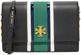 Tory Burch Georgia Stripe Convertible Cross Body Bag
