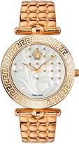 Versace Women's VK7240015 Vanitas Analog Display Swiss Quartz Gold Watch