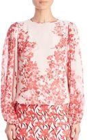 Giambattista Valli Silk Floral-Print Blouse
