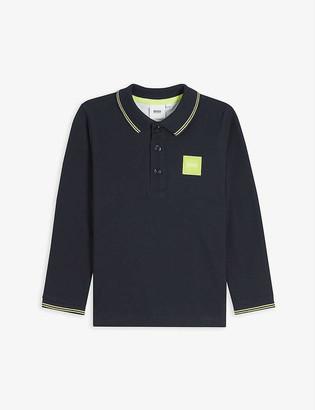 HUGO BOSS Logo-embossed cotton polo shirt 4-16 years