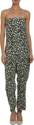 Stella McCartney Varied Animal-print Strapless Jumpsuit