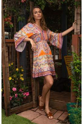 Hale Bob Lacey Stretch Satin Dress