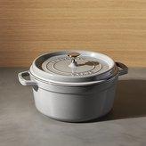 Crate & Barrel Staub 5.5-Qt Graphite Grey Cocotte