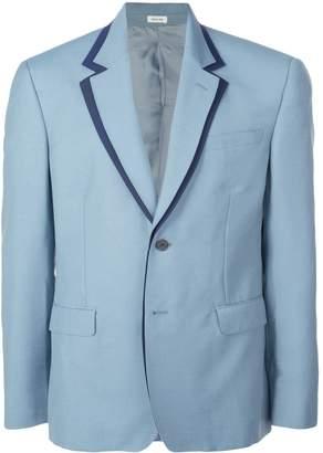 Alexander McQueen contrast trim blazer jacket
