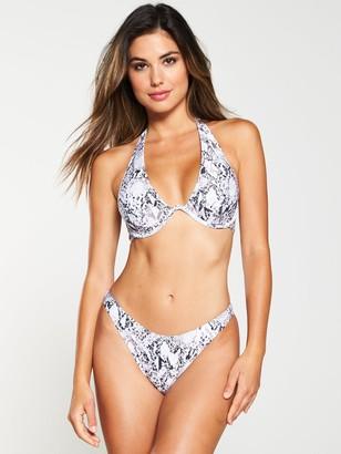 Boux Avenue Mono Brazilian Bikini Brief -Snake Print