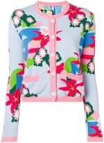 Ulla Popken Womens Plus Size Asymmetric Lace Trim Jacket 710429