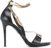 Roberto Cavalli snake motif stiletto sandals - women - Leather/metal - 37.5