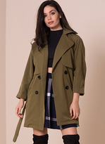 Missy Empire Alessa Khaki Trench Coat