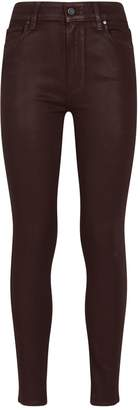 Paige Hoxton Ankle Coated Skinny-Fit Jeans