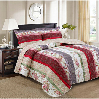Melange Home Nadine Ribbon Quilt Set