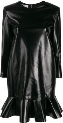 Philosophy di Lorenzo Serafini faux leather shift dress