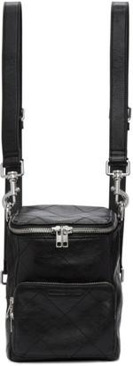 McQ Black Leather Mini Convertible Backpack