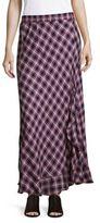 Max Studio Plaid Elasticized-Waist Skirt