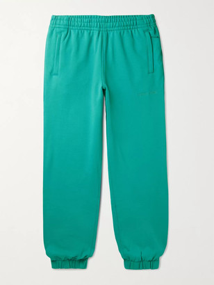 adidas Consortium - Pharrell Williams Embroidered French Cotton-Terry Sweatpants - Men - Green