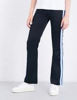 Sandro Striped-panel jersey jogging bottoms