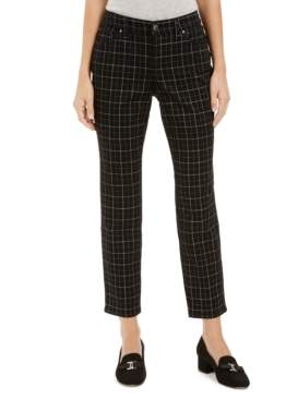 Charter Club McKenna Plaid Tummy-Control Skinny Jeans, Created For Macy's