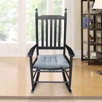 Longshore Tides Mentzer Rocking Chair Color: Black