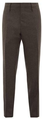 Aldo Maria Camillo - Slim-leg Tailored Wool Trousers - Dark Brown
