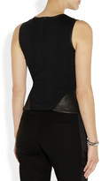 Theory Elleria washed-leather peplum top