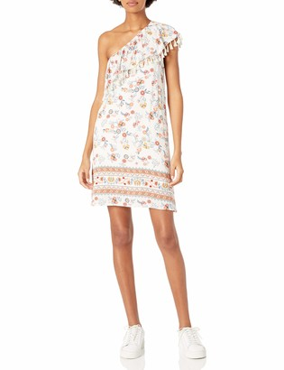 Taylor & Sage Women's One Shoulder Floral Printed Dress