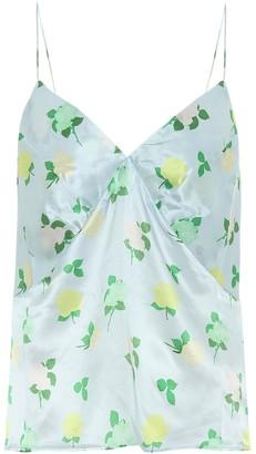 BERNADETTE June floral silk-satin camisole