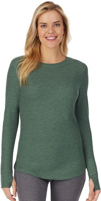 Cuddl Duds Women's Stretch Thermal Long Sleeve Crewneck Top