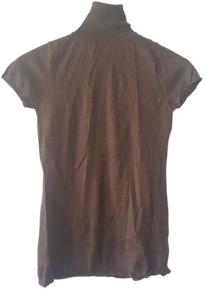 Allude Brown Cashmere Top for Women
