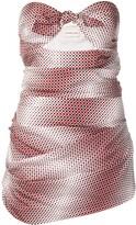 Alexandre Vauthier Strapless Polka Dot Dress