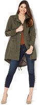 New York & Co. Embellished Anorak Jacket - Olive