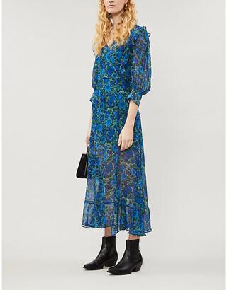 The Kooples Floral-print chiffon maxi dress