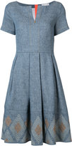 Bogner flared denim dress - women - Cotton/Linen/Flax/Polyamide/Spandex/Elastane - 34