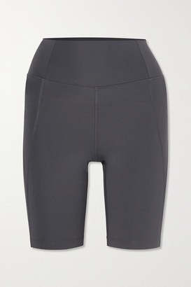 Girlfriend Collective + Net Sustain Bike Stretch Shorts - Gray